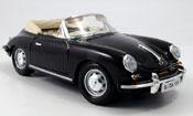 Porsche 356 1961  B cabriolet nero Burago