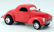 Miniature Hot Rod Willys Coupe 1941 Hot Rod rouge