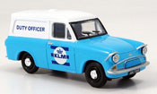 Ford Anglia miniature Van bleu blanche KLM Duty Officer