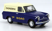 Ford Anglia miniature Van  bleu blanche BOAC Engineering