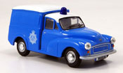 Minor Van blue white police Bermuda