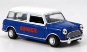 Austin Mini Van   Traveller bleu blanche Singer Oxford