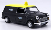 Austin Mini Van   noire jaune police Heathrow Police Oxford