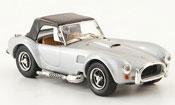 Shelby Ac Cobra miniature grise geschlossen Strassenversion 1964