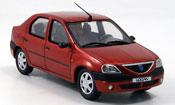 Renault Dacia miniature Logan rouge