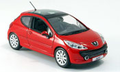 Peugeot 207 miniature feline rouge 3 portes 2006