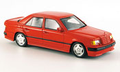 Mercedes 300 E miniature  AMG rouge 1987