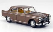 Peugeot 404 miniature Berline marron limousine