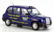 Miniature Austin TX4   Taxi bleu Real Radio