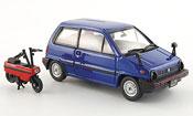 Honda City   bleu avec Motocompo Minimotorrad 1981 Ebbro