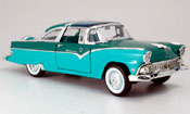 Ford Crown miniature 1955 victoria verte/verte
