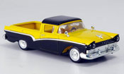 Ford Ranchero black yellow 1957