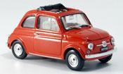 Fiat 500   Fkorallenred geoffnetes Faltdach 1965 Brumm