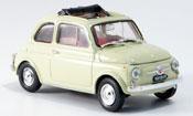 Fiat 500   F creme geoffnetes Faltdach 1965 Brumm