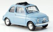 Fiat 500 F himmelblue geoffnetes Faltdach 1965
