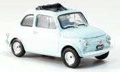 Fiat 500   F blue geoffnetes Faltdach 1965 Brumm