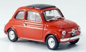 Fiat 500 F korallenred  avec capote Faltdach 1965