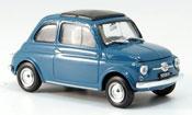 Fiat 500 F blue  avec capote Faltdach 1965