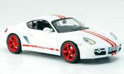 Miniature Porsche Cayman   S blanche rouge