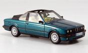 Bmw 320 miniature E30 i (E 30) Baur Cabriolet verte 1986