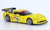Miniature Chevrolet Corvette C6  R No.63 Le Mans 2007