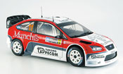 Miniature Rallye Argentine Ford Focus RS WRC argent perzex/ companc