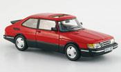 Saab 900 miniature Turbo 16 S rouge 1992