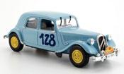 Traction 15 no.128 bleu rallye de sestriere 1951