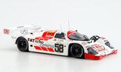 Miniature Porsche 962 1991  No.58 Joest Siebter 24h Le Mans