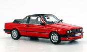 Bmw 325 E30 (E 30) Baur Cabriolet rosso 1986
