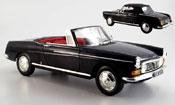 Peugeot 404 miniature Cabriolet noire 1967