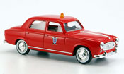 Peugeot 403 miniature Berline pompier 1964