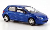 Peugeot 307 Solido bleu 3 portes