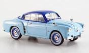 Renault 4CV miniature coupe bleu 1956
