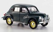 Renault 4CV miniature grand luxe verte 1950