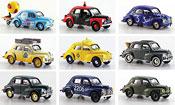 Renault 4CV miniature set avec 9 modellen 1961