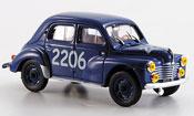 Renault 4CV miniature no.2206  mille miglia 1954