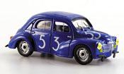 Renault 4CV miniature bol dor no. 53 1952