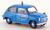 Fiat 600 D Polizia Municipale Roma police 1960