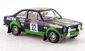 Miniature Rallye Ford Escort MK2 BDA No.22 Batida Janner Rally 1980
