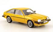 Opel Manta miniature B cc sr  jaune 1980