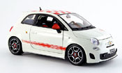 Fiat 500 Abarth red-white 2007