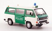 Volkswagen Combi t3b bus police bianco verde