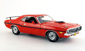 Dodge Challenger 1970  r t 426 hemi rouge noire Greenlight