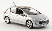 Peugeot 308 miniature feline  grise 5portes 2007