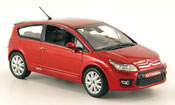 Citroen C4   3 turig red 2008 Norev