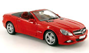 Mercedes SL cabriolet (r230) red 2008