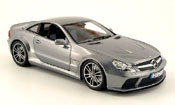 Mercedes SL   65 amg black series (r230) grise 2008 Minichamps 1/18