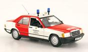Mercedes 190 D (W201) Notarzt pompier Aachen 1984