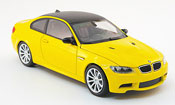Bmw M3 E92  yellow Linea Giallo 2008 Minichamps